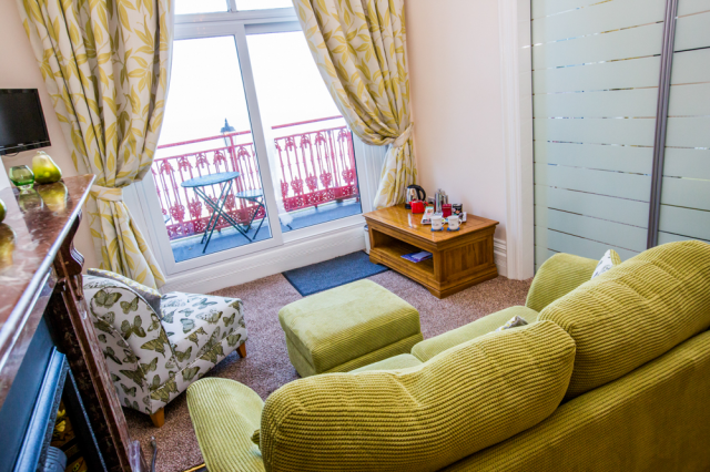 Luxury Double Ensuite Room with Seaviews and Balcony.